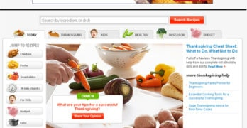 iVillage Food Section – Cook, Twist, Share
