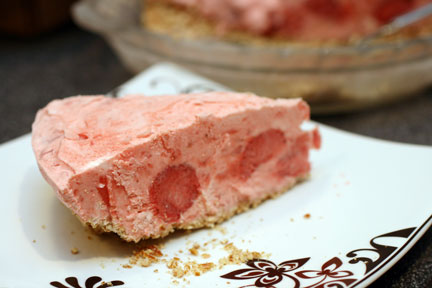 Slice of Strawberry Margarita Pie