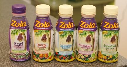 Zola Açaí Product line