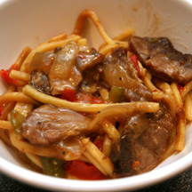 Kahiki Foods Pepper Steak with Lo Mein