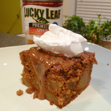 Lucky Leaf Caramel Apple Gingerbread