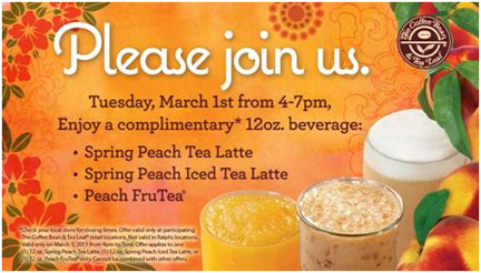 Spring Peach at The Coffee Bean & Tea Leaf