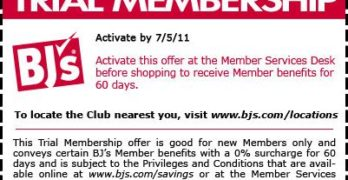 FREE 60-Day BJ's Wholesale Trial Membership