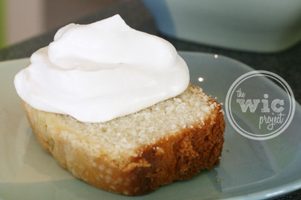 Pound Cake with Whip