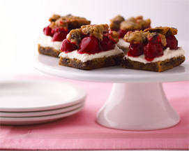 Lucky Leaf Chocolate Chip Cherry Bars
