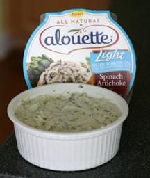 Alouette Light Spinach & Artichoke Spreadable Cheese