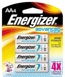 Energizer Advanced Lithium Batteries