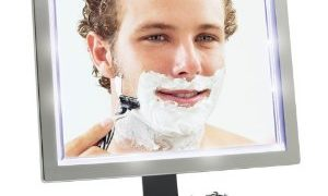 eluxe LED Fogless Shower Mirror with Squeegee by ToiletTree Products