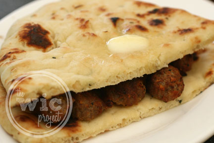 Naan Meatball Sandwich