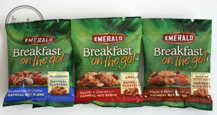 Emerald Breakfast on the go! Oatmeal blends