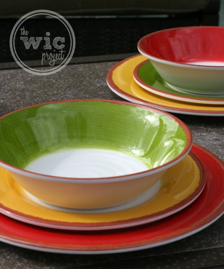 set the summer tables with a melamine dinnerware set from bj s