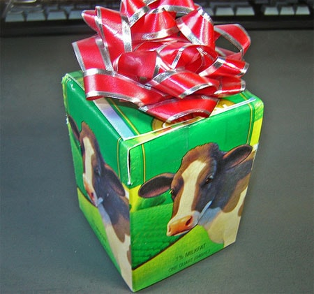 Redesigned Milk Carton Gift Box