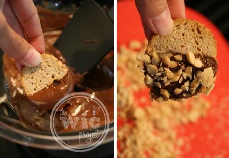 Melba Snacks in Chocolate