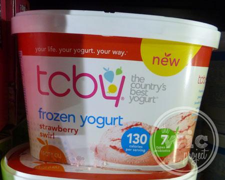 TCBY Strawberry Swirl Frozen Yogurt