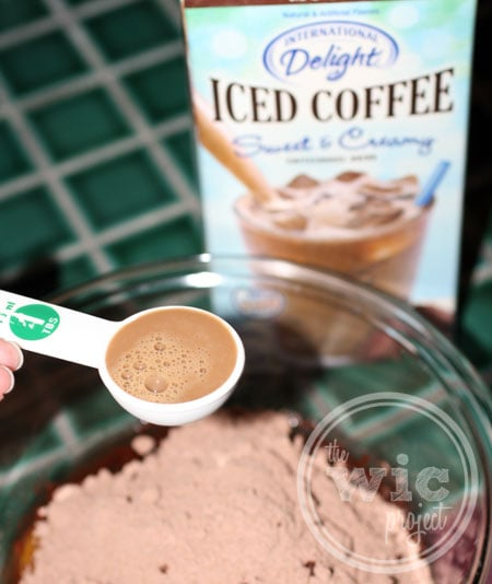 International Delight Iced Coffee in Brownie Mix