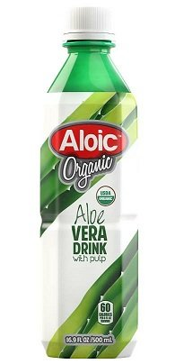 Aloic Organic Aloe Vera Drink with Pulp