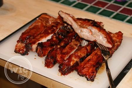 Yummy Ribs with Kraft BBQ Sauce and McCormick's Rub
