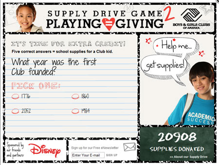 BGCA Supply Drive Game