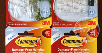 Organization with Command Brand Clear Hooks – Review & Giveaway