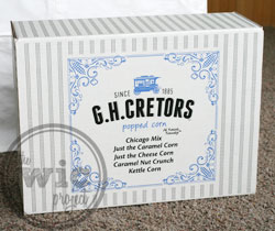 G.H. Cretors Popped Corn Variety Box