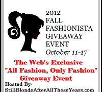 2012 Fall Fashionista Giveaway Event