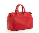 $1200 Retail Louis Vuitton Red Epi Speedy 25 Purse Bag from Bella Bag