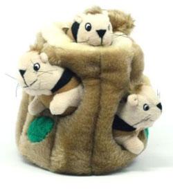 Hide-A-Squirrel Dog Toy