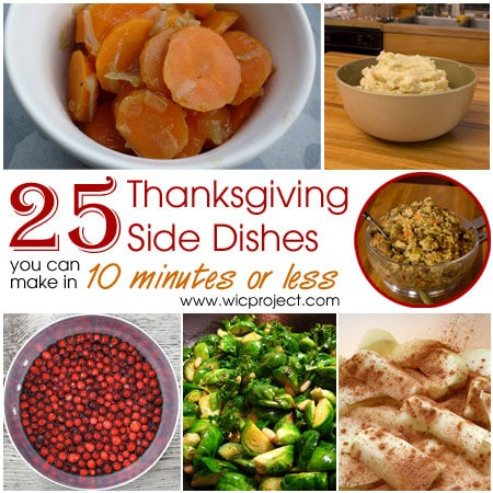 25 and easy thanksgiving side dishes you can make in