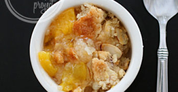 Almond Peach Cobbler