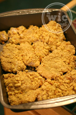 Stuffing Breaded Chicken