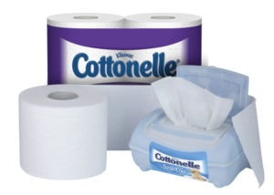 Cottonelle Toilet Paper and Cottonelle Fresh Care Flushable Wipes
