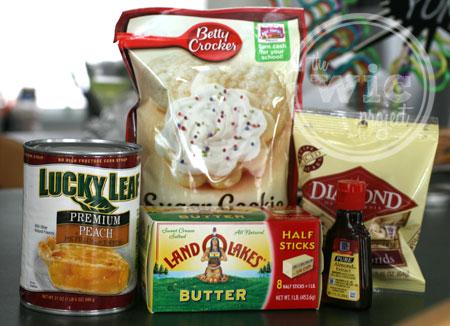 Almond Peach Cobbler Ingredients