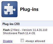 Chrome Plug-ins Flash