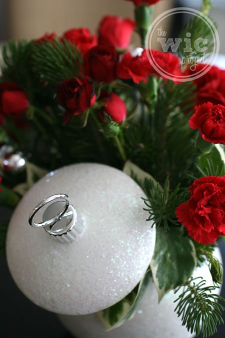 Teleflora Shimmering Snow Bouquet Ornament