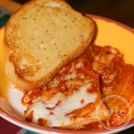 Stouffer's Lasagna New York Texas Toast