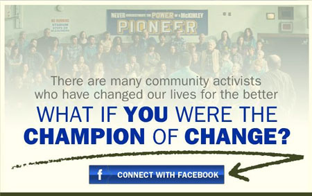 Community Change Facebook Connect Experience