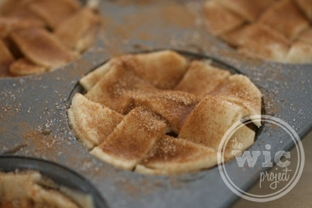 Sugar and Cinnamon on Baby Apple Pies