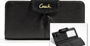 COACH Ashley Leather Slim Envelope Wallet