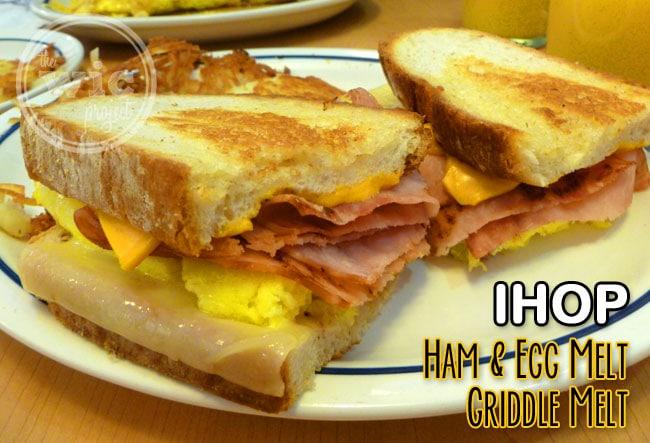 IHOP Ham & Egg Melt Griddle Melts