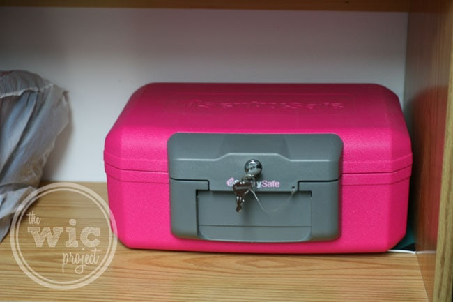 Sentry Safe 1200 Pink Fire Safe