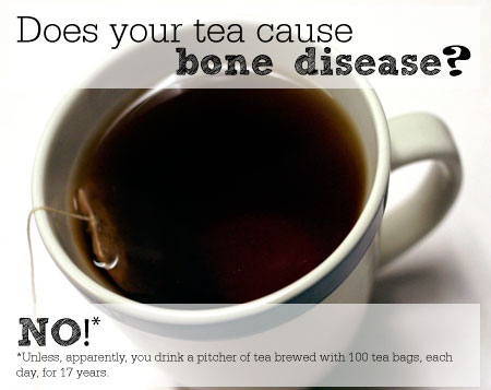 Does your tea cause bone disease