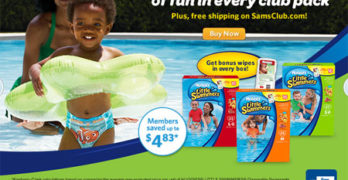 No More Saggy Diapers – Huggies® Little Swimmers at Sam's Club