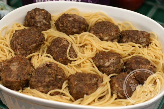 Meatballs on Spaghetti