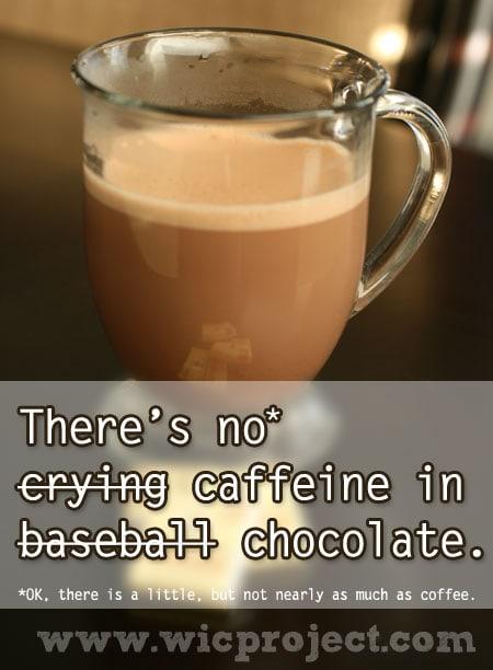 No Caffeine in Chocolate