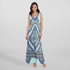 Live and Let Live Women's Maxi Dress - Bandana Print