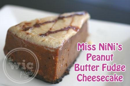 Miss NiNi's Peanut Butter Fudge Cheesecake
