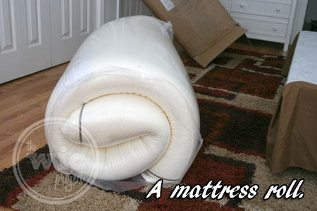 Nature's Sleep Mattress Rolled Up