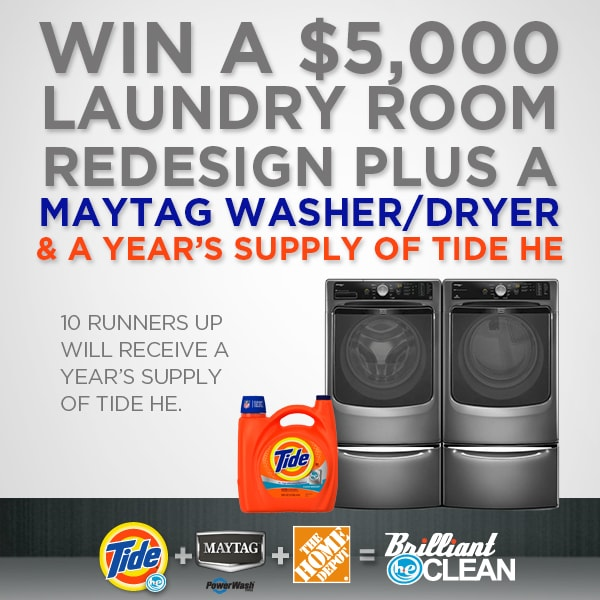 P&G THD Tide Maytag Sweepstakes Image