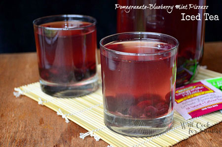 Pomegranate Bluberry Mint Pizzazz Tea