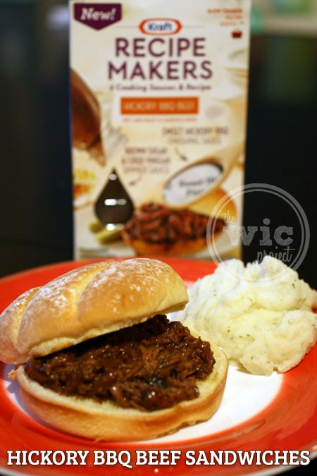 Kraft Recipe Makers Hickory BBQ Beef Sandwich